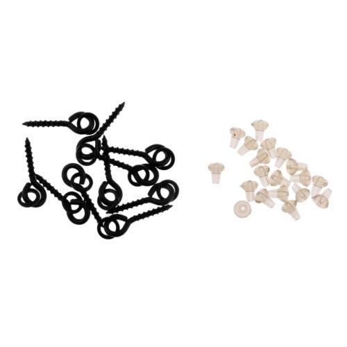 40x Beads Hook Stops 20x Baits Schrauben für Karpfenangeln