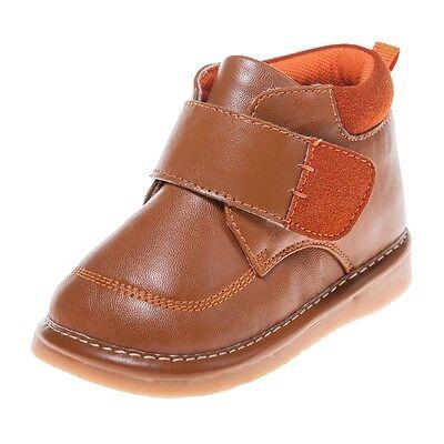 LITTLE BLUE LAMB Squeaky Schuhe Boots Stiefel 5809 hell braun gefüttert NEU