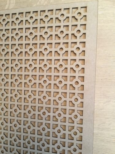 Radiator Cabinet Decorative Screening Perforated 3mm & 6mm thick MDF laser cuKK2