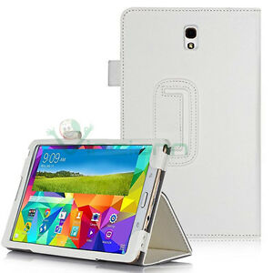 Custodia-BIANCA-simil-pelle-Stand-per-Samsung-Galaxy-Tab-S-8-4-T705-cover-nuova