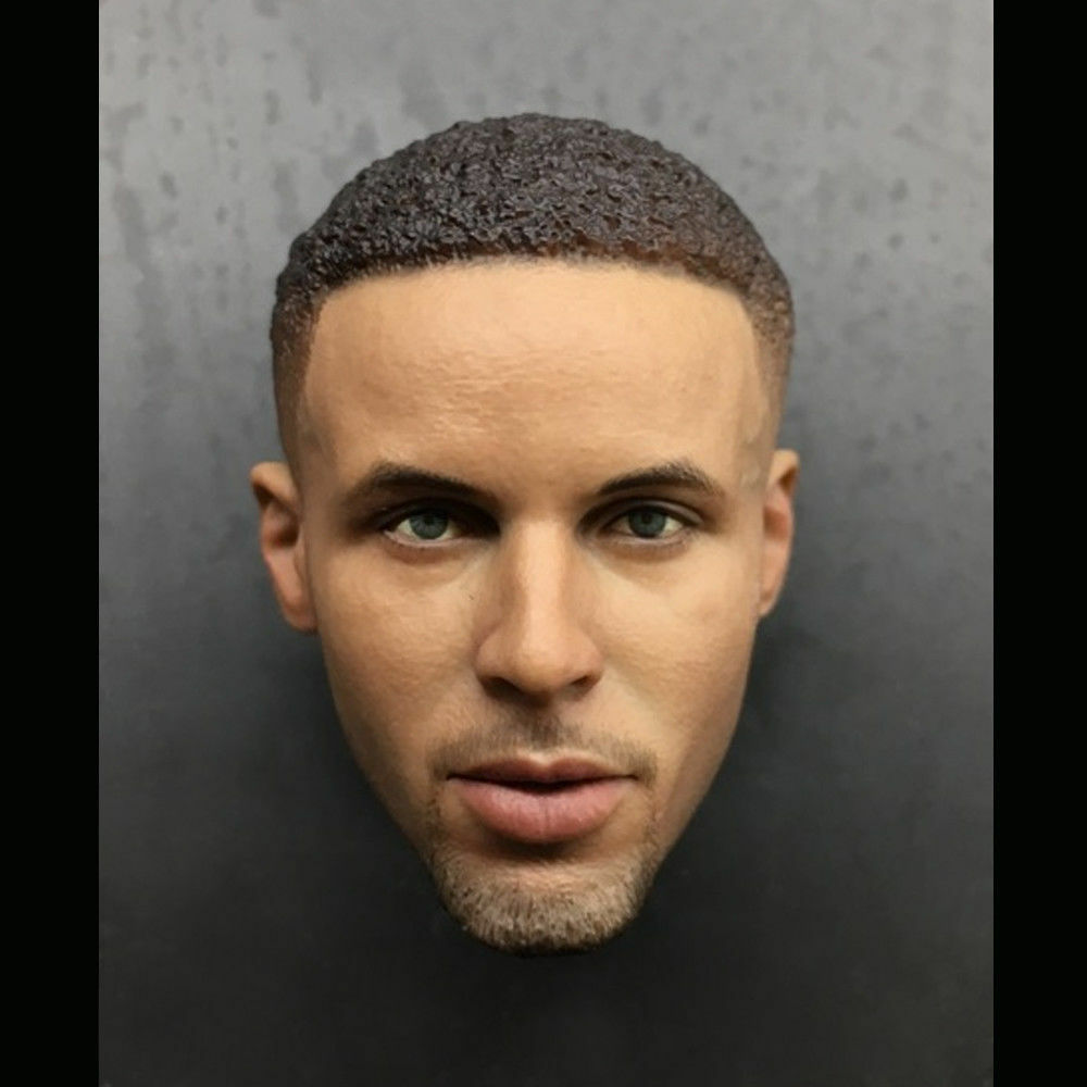 1 6 Scale Stephen Curry Head Sculpt For 12'' Action Figure Body Hot Toys