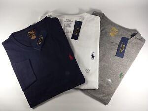 aa90d7d5bc66 Details about New Authentic Polo Ralph Lauren Men's Custom Slim Fit Cotton T -Shirt Long Sleeve