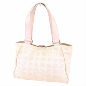 e06d66d7603b Image is loading Chanel-Tote-bag-Newtravelline-Pink-Gold-Woman-Authentic-