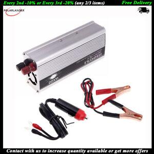 Inversor-energia-auto-Coche-1500W-24V-a-220V-corriente-USB-Cargador-convertidor