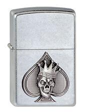 Zippo Spades Skull 3D Emblem Pik Totenkopf Feuerzeug Neu 2002844
