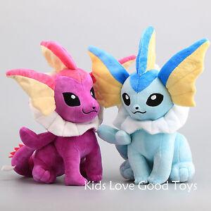 2X-Pokemon-14-034-Plush-Sitting-VAPOREON-amp-Shiny-Vaporeon-Plush-Toy-Stuffed-Doll
