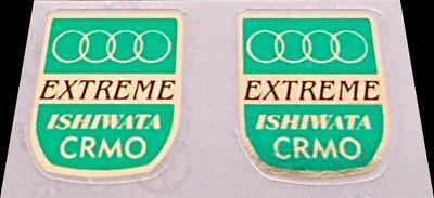 sku Tang861 Mirror Gold // Green Tange Champion Fork Tubing Decals 1 Pair