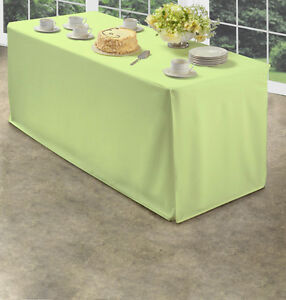 Image Is Loading Green Folding Table Tablecloth Heavy Fabric Split Corners