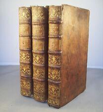 PRONES REDUITS EN PRATIQUE POUR LES... 3 Vol. / M. BILLOT / RELIURE CUIR 1789
