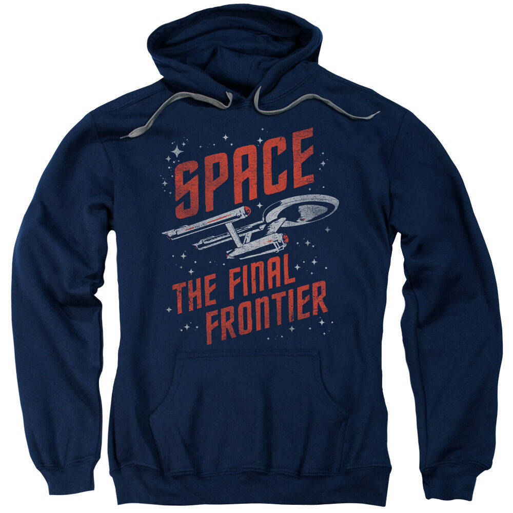 Star Trek Enterprise Space Final Frontier Licensed Sweatshirt Hoodie