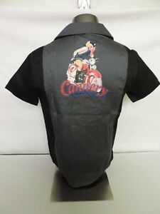 CANNERY-Casino-Hotel-Las-Vegas-Bowling-BLACK-SHIRT-PIN-UP-GIRL-Motorcycle-LARGE