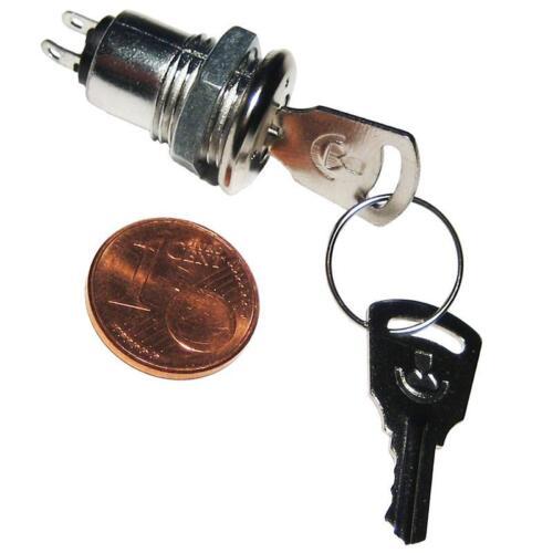 5 Stück Schlüsselschalter 1A//30V Schalter mit Schlüssel