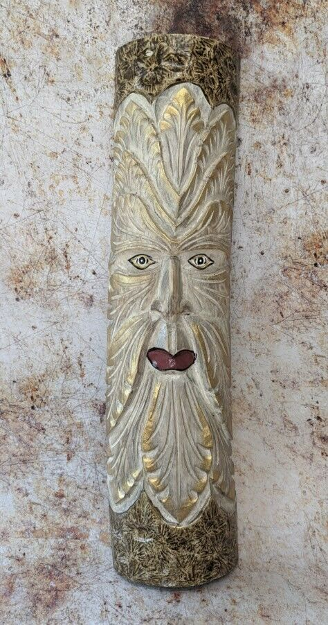 Green Man of the Woods White Painted Wizard Wood Man ENT LOTR 50cm