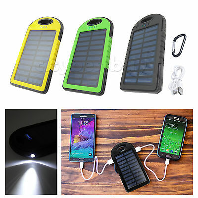 4000mah Dual-USB Waterproof Solar Sun Power Bank Battery Charger for Cell Phone
