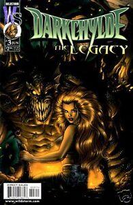 DARKCHYLDE: THE LEGACY #3 VARIANT Cvr Fi/VF (Wildstorm,1999) original Comic Book
