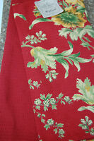 April Cornell Tea Towels Red Green Gold Floral (2)