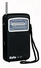 Kaito KA210 Pocket AM/FM NOAA Weather Radio - Black