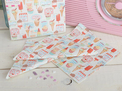 Pack of 25 RETRO TREATS Paper Napkins 1950's VINTAGE STYLE