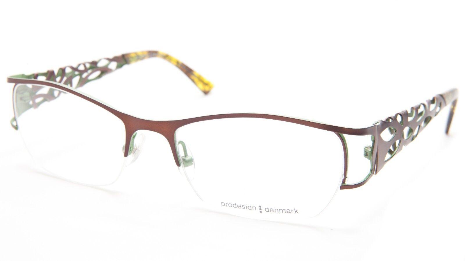 3b55f9326e PRODESIGN Denmark 5134 C. 5031 Brown Eyeglasses Glasses 53-18-135 ...