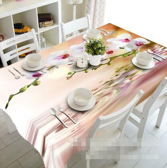 3D Phalaenopsis 7 Tablecloth Table Cover Cloth Birthday Party Event AJ WALLPAPER