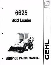 Gehl 6625 Skid Steer Loader Parts Manual Catalog