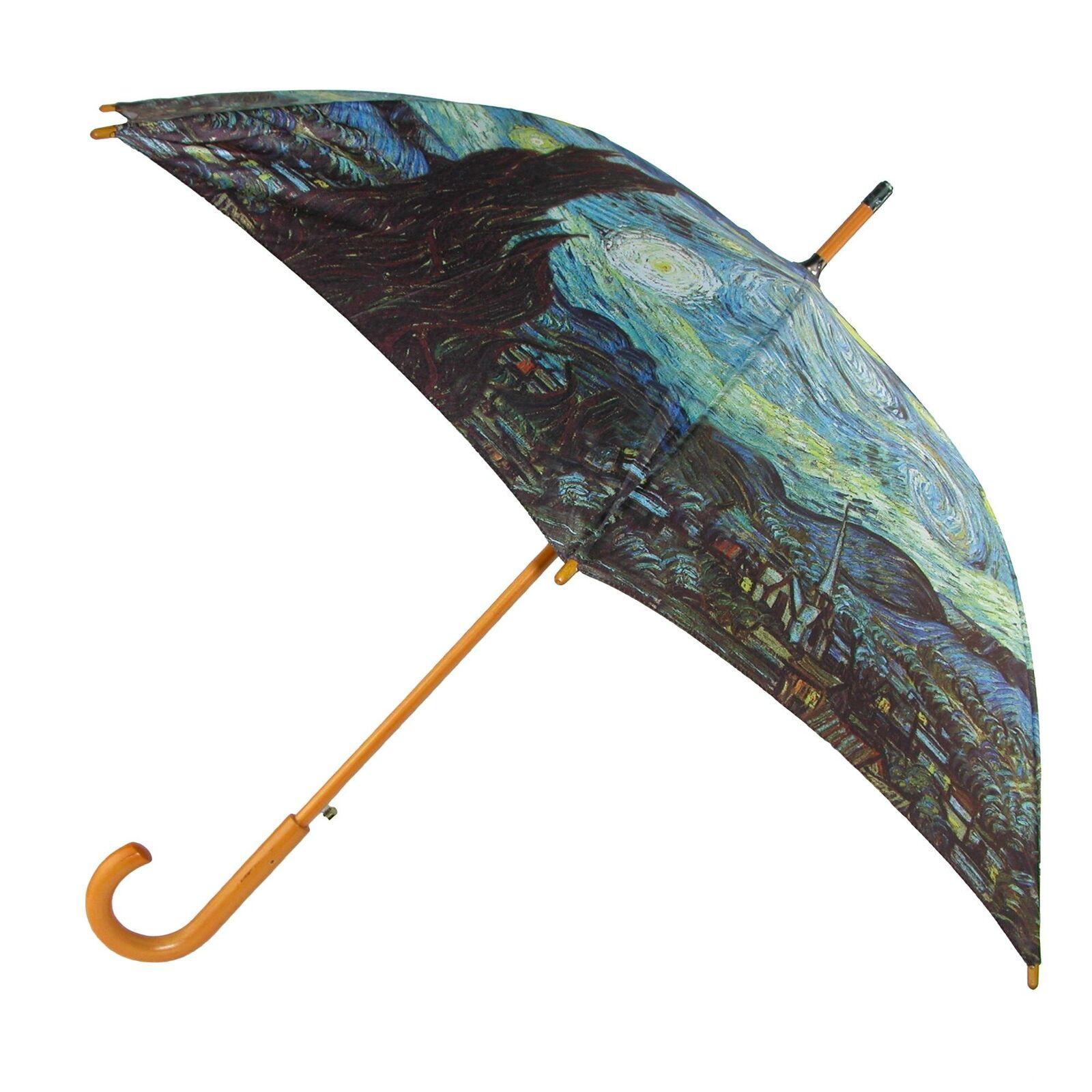 New CTM Starry Night Print Hook Stick Umbrella
