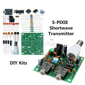 S-PIXIE-40M-CW-RADIO-Shortwave-Transmitter-QRP-Pixie-Kit-Receiver-7-023-7-026MHz