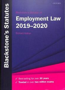 Blackstone-039-s-Statutes-on-Employment-Law-2019-2020-9780198838722-Brand-New