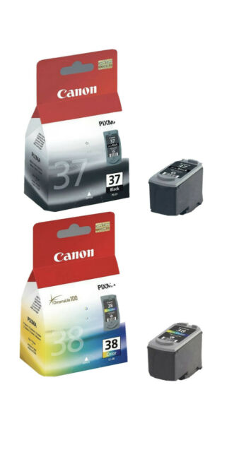 Genuine Canon ink cartridges PG-37(PG37)+CL-38(CL38) For iP2600 MP140,470,MX300