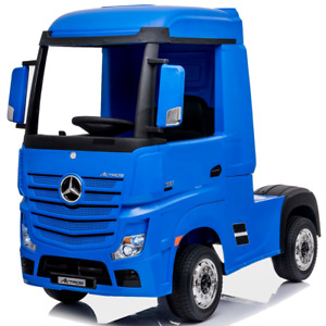Licensed Mercedes-Benz Actros 12V Ride On Lorry With Remote  - Blue