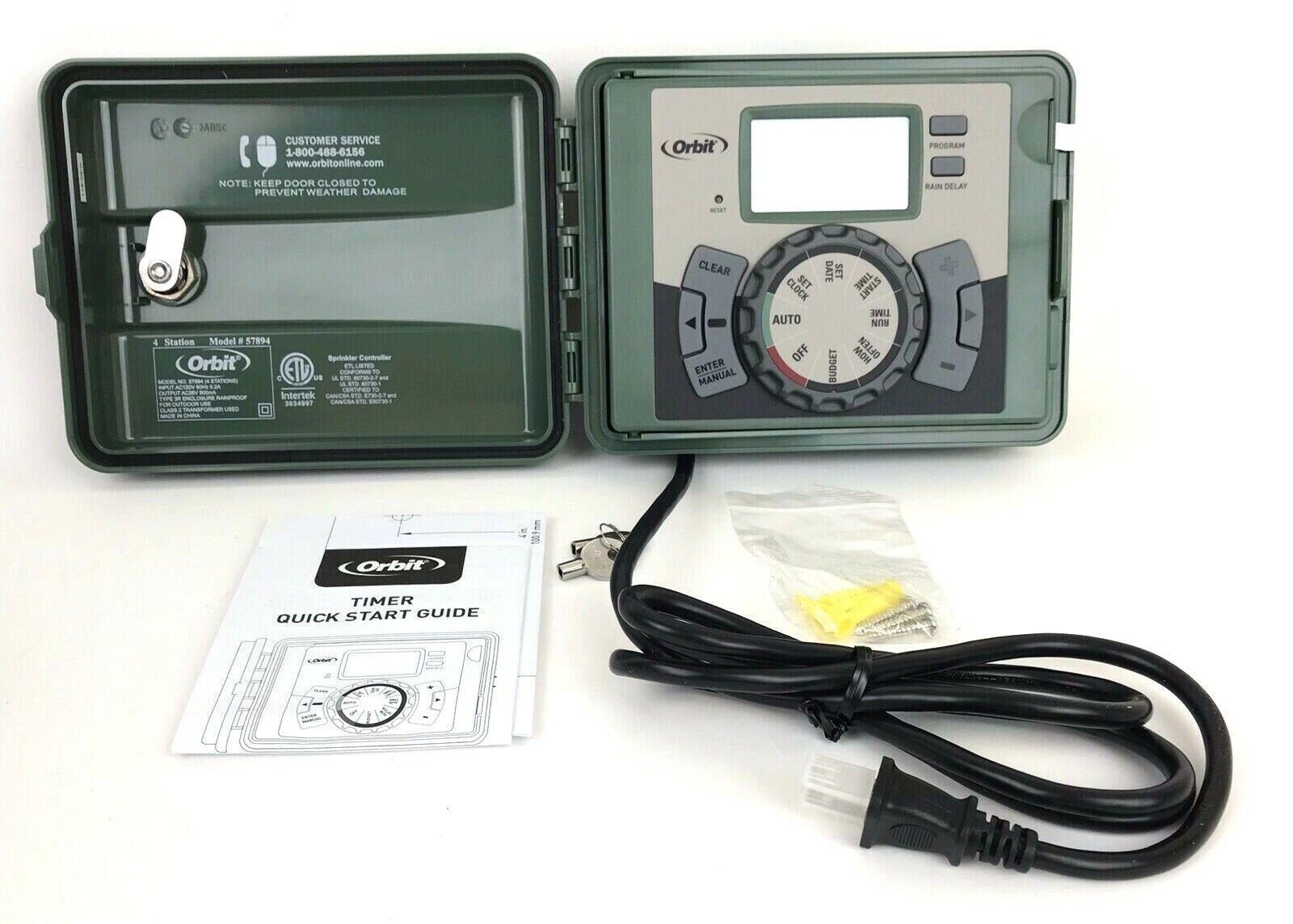 Orbit 57894 Easy-set Logic 4-Station Indoor/Outdoor Sprinkler System Timer NOB