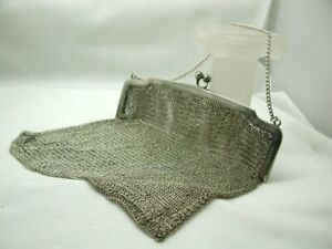 1915-Antique-Silver-Purse-In-Very-Good-Condition