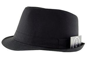 75eb748c7dc88e Itzu Men's Classic Plain Trilby Fedora Hat Cap Black Navy Brown ...