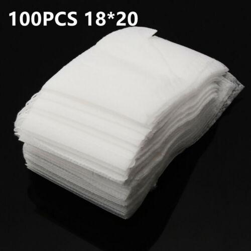 100pcs Set Shopping Storage Mesh Bag Reusable Drawstring Fruit Produce Bags Pack