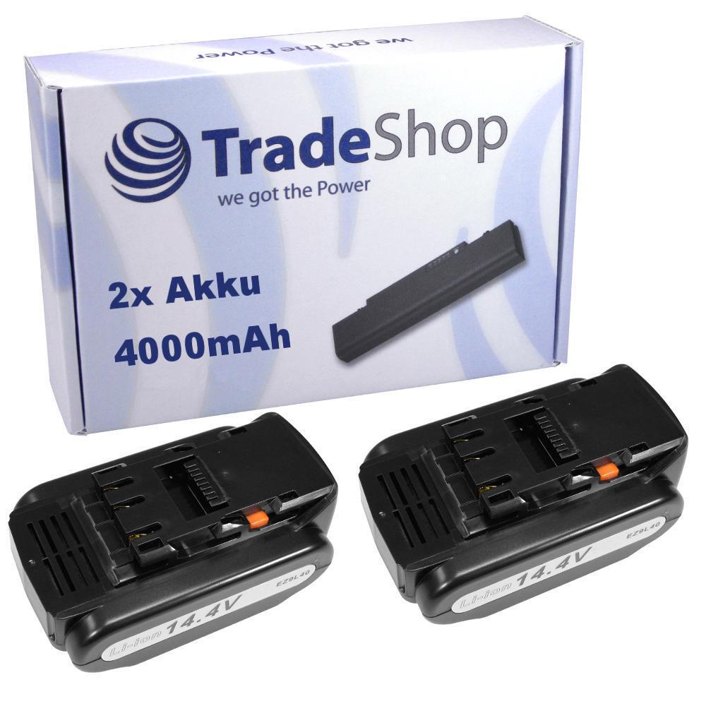 2x AKKU 14,4V 4000mAh Li-Ion Battery für Panasonic EZ4543X EZ4544 EZ4544K EZ4640