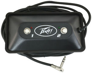 Peavey Multi-Purpose 2-Button Black Guitar Amp Footswitch Pedal w/ LEDs