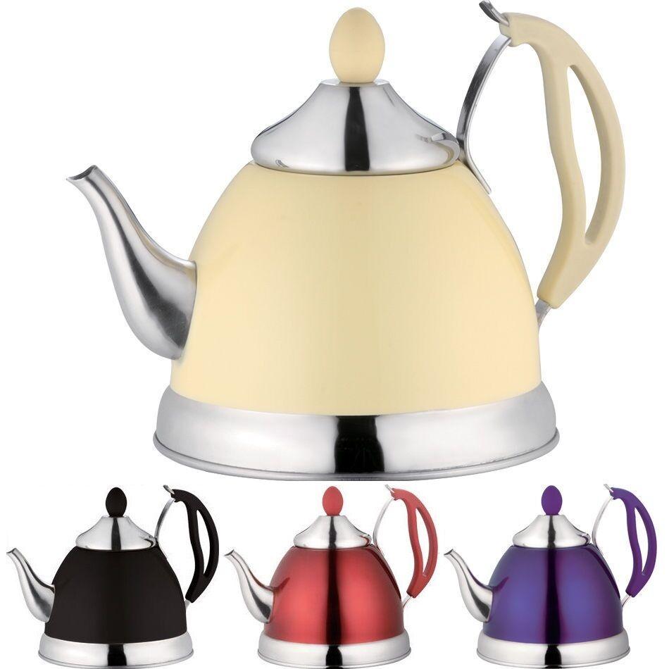 1.5L en acier inoxydable léger tea pot sifflement bouilloire sans fil théière neuf
