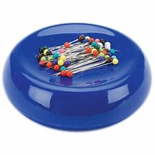 Grabbit Magnetic Sewing Pincushion With 50 Plastic Head Pins - Blue