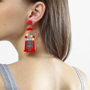 Women-Boho-Dangle-Drop-Stud-Earring-Acrylic-Resin-Toy-Earrings-Jewelry-Gift