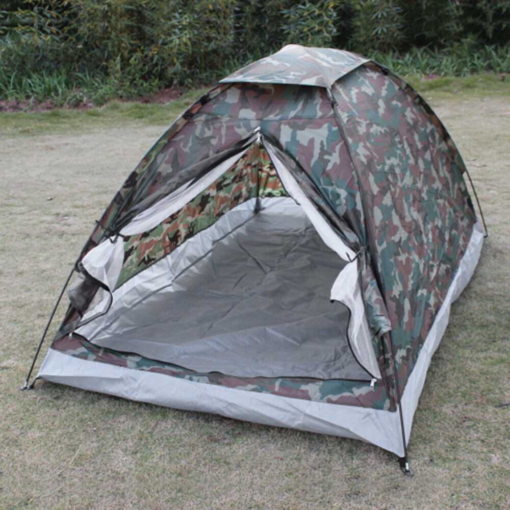 Outdoor Rainfly Camping Tent for 2 Person  Single Layer Portable Polyester Beach  official quality