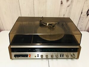 Vintage-Sony-HP-219A-Radio-FM-AM-Turntable-Record-Cassette-Player-Music-System