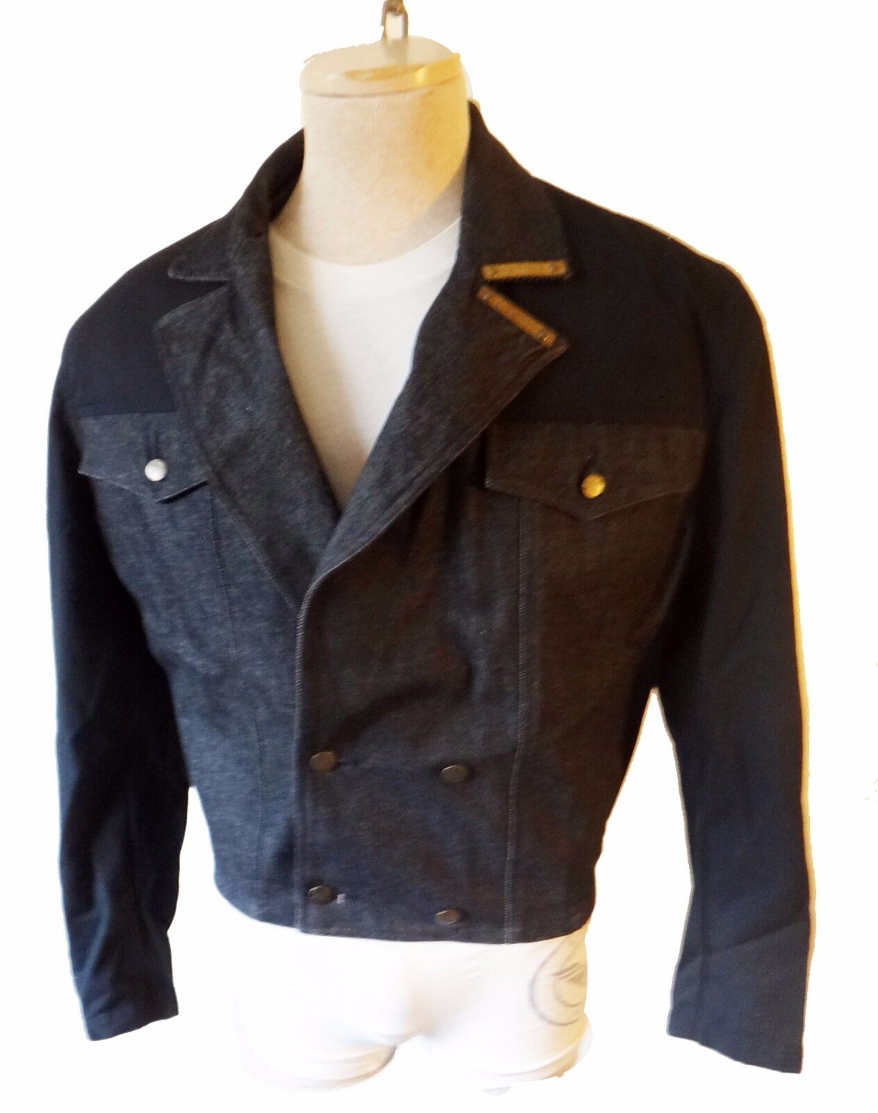 GIRBAUD Marithe Francois 1980 Crop bolero cut off off off small medium new wave music 598f85