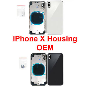 OEM-Back-Glass-Housing-Frame-Assembly-Battery-Door-Cover-FOR-iPhone-X-New-US