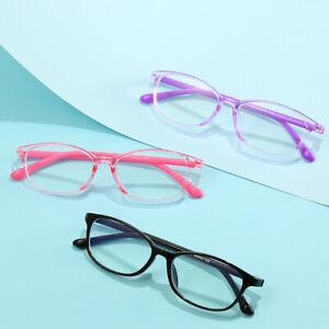 Kids Boys Girls Computer Eye Glasses Anti Blue Light Eyestrain Protection Square