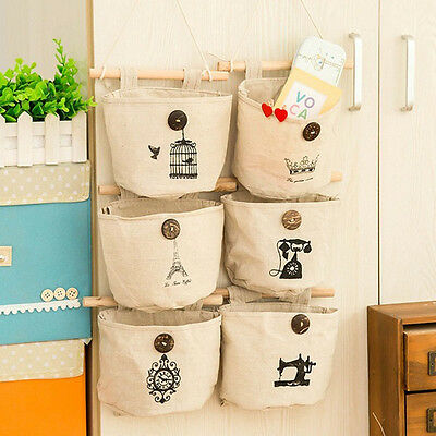 Home Kitchen cabinet handing Canvas storage bag Multiple pattern Bag NEW HOT