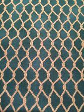 100% Cotton Salmon Run Steve Marquez 7462 Teal Blue fish net nautical fabric BTY