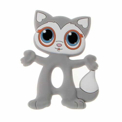 Baby Teethers Big Eyes Cat Teething Silicone Nursing Necklace Pendants