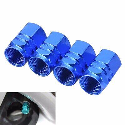 4PCS Aluminum Tire Wheel Rims Stem Air Valve Caps Tyre Cover Car Truck Bike Blue