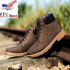 Men Ankle Boots Fur Lined Winter Autumn Warm Martin Boots Shoes US Stock