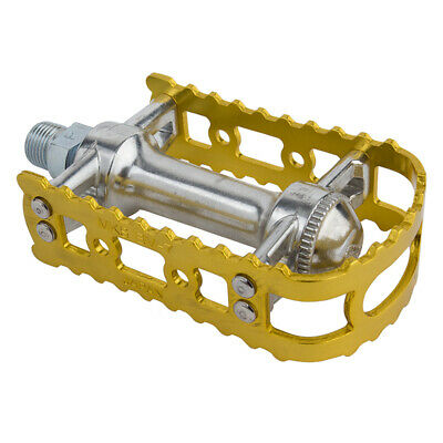 "Brand New MKS BM-7 BMX 9//16/"" Pedals Gold Old School Bmx KKT"
